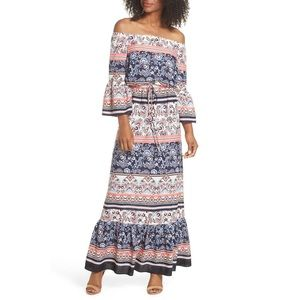 Eliza J Plus Off Shoulder Maxi